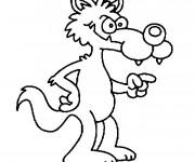 Coloriage et dessins gratuit Chaperon Rouge le vilain loup à imprimer
