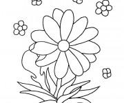Coloriage et dessins gratuit Des Fleurs Maternelle à imprimer