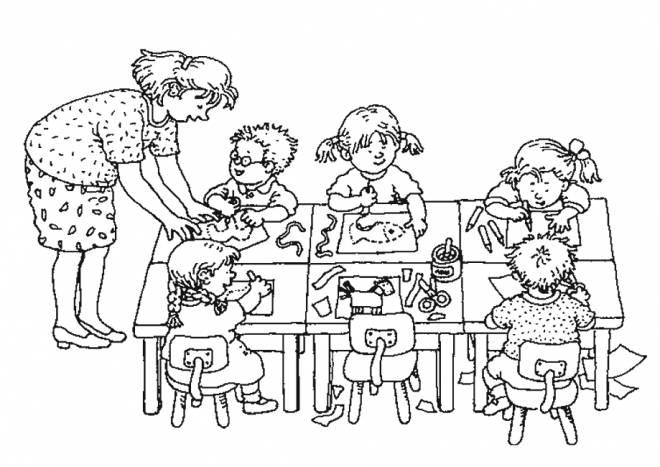 Coloriage et dessins gratuits École classe maternelle à imprimer