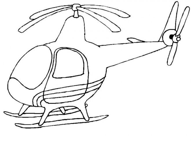Coloriage et dessins gratuits Helicoptere Maternelle à imprimer