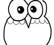 Coloriage et dessins gratuit Hibou en couleur Maternelle à imprimer