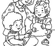 Coloriage et dessins gratuit La Famille Maternelle à imprimer