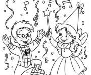 Coloriage et dessins gratuit Le Carnaval Maternelle à imprimer