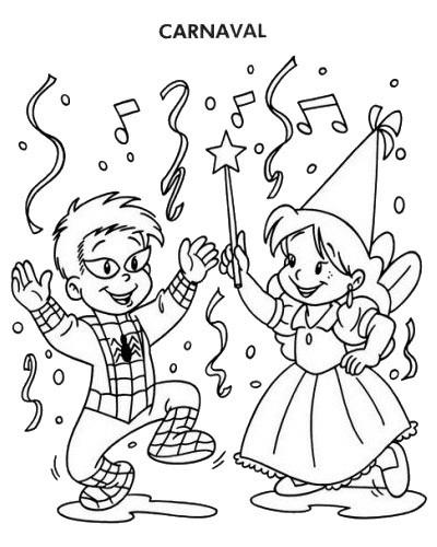 Coloriage et dessins gratuits Le Carnaval Maternelle à imprimer