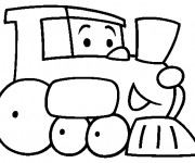 Coloriage Un Train Maternelle