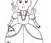 Coloriage et dessins gratuit Une Princesse Maternelle à imprimer