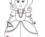 Coloriage Une Princesse Maternelle