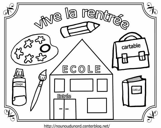 Coloriage et dessins gratuits Vive la Rentrée scolaire à imprimer