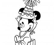 Coloriage Bébé Mickey mignon