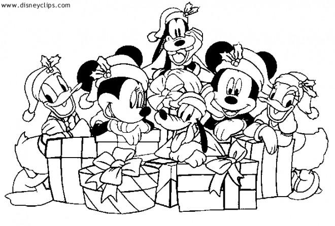 Coloriage Les Petits De Disney Noel Dessin Gratuit A Imprimer