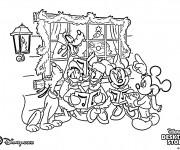 Coloriage Mickey et Les Chansons de Noel