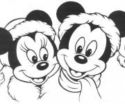 Coloriage Mickey et Minnie de Disney