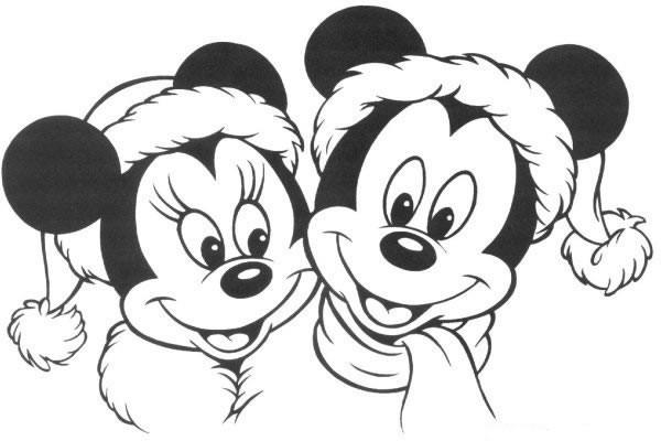 Coloriage Mickey Et Minnie De Disney Dessin Gratuit à Imprimer