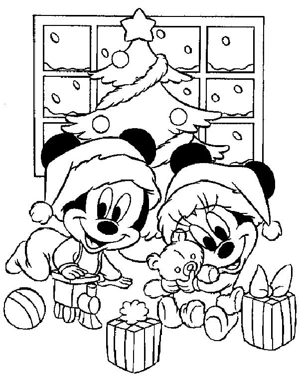 Coloriage mickey mignon noel dessin gratuit imprimer - Coloriage disney noel ...