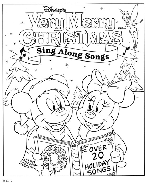 Coloriage et dessins gratuits Mickey Noel Affiche à imprimer