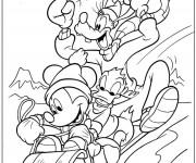 Coloriage et dessins gratuit Mickey Noel Dessin animé à imprimer