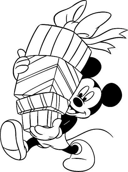 Coloriage mickey noel en noir dessin gratuit imprimer - Telecharger film mickey mouse gratuit ...