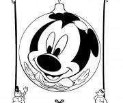 Coloriage et dessins gratuit Mickey Noel humoristique à imprimer