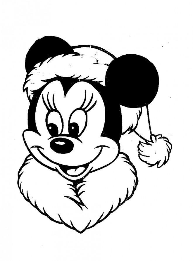 Coloriage Mickey Noel gratuit à imprimer liste 40 à 60