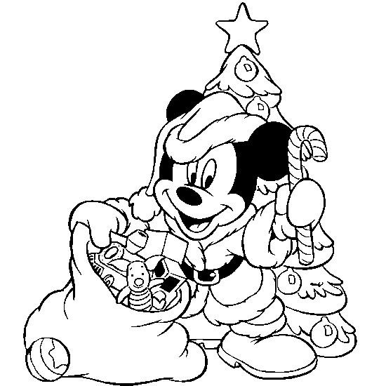 Coloriage mickey porte les cadeaux de noel dessin gratuit - Dessin coloriage noel gratuit imprimer ...
