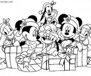 Coloriage et dessins gratuit Noel Disney  facile à imprimer