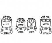 Coloriage dessin  Film Les Minions 13