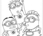 Coloriage et dessins gratuit Film Les Minions à découper à imprimer