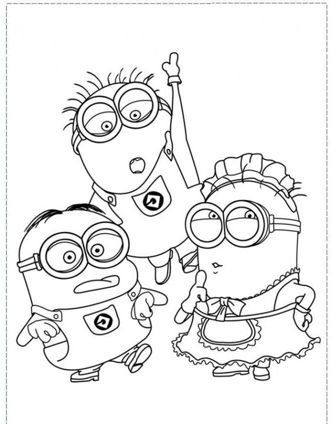 Coloriage et dessins gratuits Film Les Minions à découper à imprimer