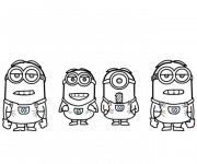 Coloriage et dessins gratuit Film Les Minions humoristique à imprimer