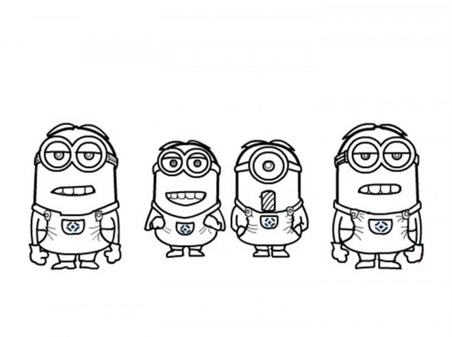 Coloriage et dessins gratuits Film Les Minions humoristique à imprimer