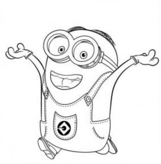 Coloriage et dessins gratuits La joie de Minion Stuart à imprimer