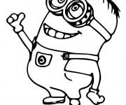 Coloriage et dessins gratuit Minion Dave tout en souriant à imprimer