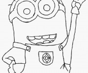 Coloriage Minion Kévin à colorier