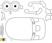 Coloriage et dessins gratuit Minion Kévin à construire à imprimer