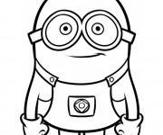 Coloriage Minion Kévin vecteur