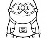 Coloriage et dessins gratuit Minion Kévin vecteur à imprimer