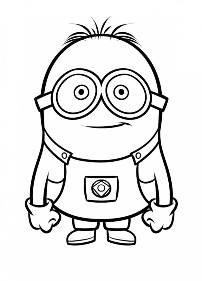 Coloriage et dessins gratuits Minion Kévin vecteur à imprimer