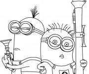 Coloriage et dessins gratuit Minion Moi moche et méchant à imprimer