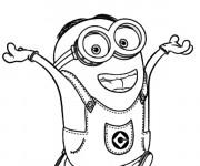 Coloriage et dessins gratuit Minion Stuart content à imprimer