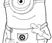 Coloriage Minion Stuart dessin animé