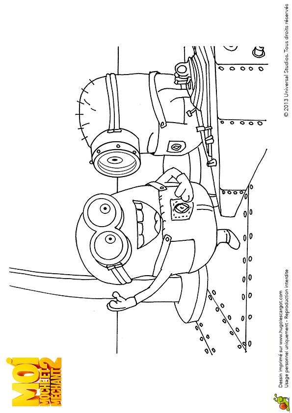 Coloriage et dessins gratuits Les Minions de Moi Moche et Méchant à imprimer