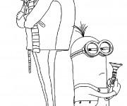 Coloriage et dessins gratuit Les Minions dessin animé à imprimer