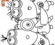 Coloriage et dessins gratuit Les Minions Détestable Moi à imprimer