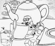Coloriage et dessins gratuit Les Minions sur La Table à imprimer