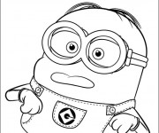 Coloriage Minion Bello