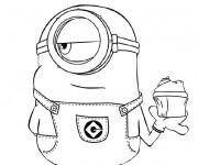 Coloriage et dessins gratuit Minion Bob à imprimer