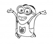 Coloriage Minion en couleur