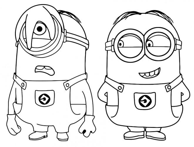 autres coloriages meilleurs dessins - Dessin Minion