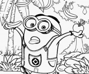 Coloriage Minion Rush maternelle