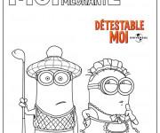 Coloriage et dessins gratuit Minion Rush Moi Moche et Méchant à imprimer
